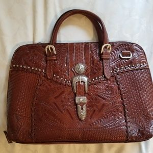American West NWT handmade leather tote